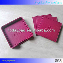 Red Eco-friendly PU cup coaster