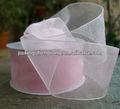 Luz de color rosa color de la cinta para caja de regalo paquete