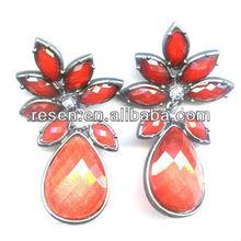 2014 yiwu fashion Best-selling resin earrings charm jewelry