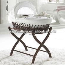 Nice wicker woven baby basket infant bassinet