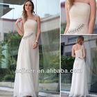 2014 Chiffon White Designer Evening Dress Pattern