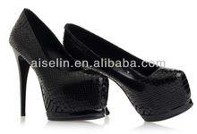 Women aligator shoes high platform cheap women heels designers good quality with factory price