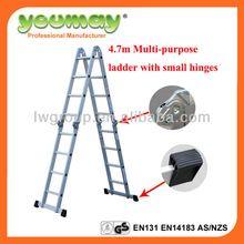 strong flexible hinge for multifunction ladders