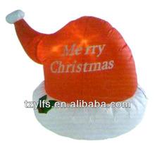 Christmas inflatable Christmas Hat/Christmas pop up hat/Christmas inflatables