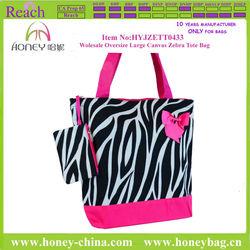 Ecofriendly Felt Tote Bag Oversize Large Canvas Zebra Tote Bag