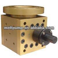 Discharge gear pump for reactor