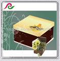 Boîtes à gâteau avec la conception classique brun jaune couvercles/moyen/grands carrés de papier d'emballage boîte/coffrets cadeaux