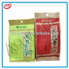 various styles for side gusset aluminum foil melon seeds bag tear notch