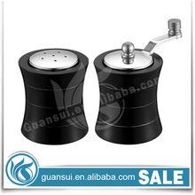 stainless steel mini salt and pepper grinder set