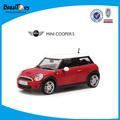 1:24 mini cooper puxe fundido modelo do carro carro de brinquedo para criança