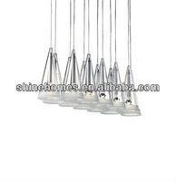 2015 Hot Sale Popular Classic Simple Decorative 12 Light Suspension Modern Glass Pendant Lamp Glass Light SH01PDGL0015-12