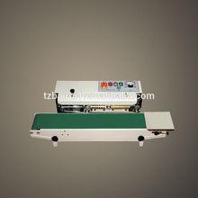 Horizontal continuous band sealer for PE bag