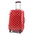 vermelho moda abs trolley de viagem do aeroporto de carrinhos de bagagem e mala