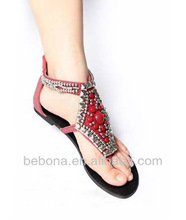 New design fancy no heel sandals