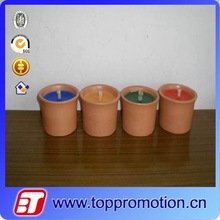 colorful scented ceramic cup candles pot art candle