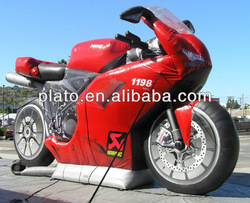 Hot sale! advertising inflatable motorcycle