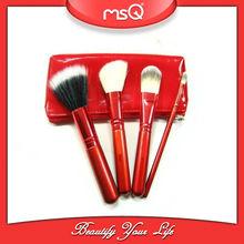 4pcs mini type wholesale makeup brush China red