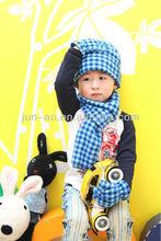Newest Children Winter Fleece Hat Gloves Scarfs One Set