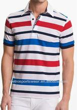 Men's polo stripe fit colorful