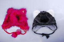 funny winter fuax fur hat