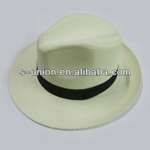 Good quality white panama hat (SU-SH6434)