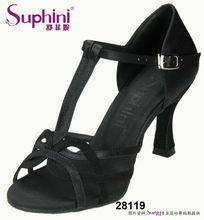 Black women satin latin dance shoes ,cheap wholesale prices marikina shoes