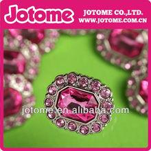 Pink Rhinestone Button / Fashion Button / Acrylic Shank Button / Garment Button