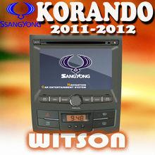 De WITSON SSANGYONG nueva KORANDO en el coche reproductor de dvd con pantalla táctil