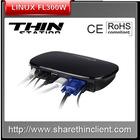 Cheap linux thin client support call center server.server internet online video,dual core CPU 1GZ