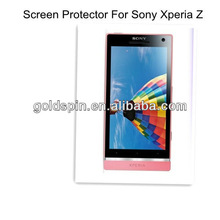 2013 Hot Sale!!!! Ultra Clear For Sony Xperia Z Screen Protector