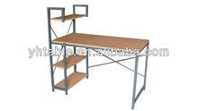 metal computer table with metal shelf