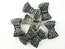 CH-LAB0125 Hot crystal bow,rhinestone bow charms,fashion crystal rhinestone bow