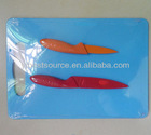HCS2002 Hot sell colored Kitchen knife with Cutting board