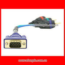 VGA to AV cable male to male component video cable/converter Gold plated