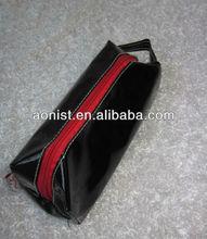 PU bright black rectangle cosmetic bag