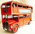 2014 top venda artesanato metal double decker bus modelo para a decoração home