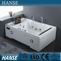 HS-B305 sex massge bathtub/rectangular corner bathtub/2 person bathtub with tv