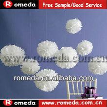 MOQ 50PCS!!!Mixed colors &size!!! tissue paper pom poms flower balls FACTORY DIRECT SALE