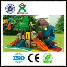 Entertaining forest design playground/wood-like palyground/residential playground design QX-B1001