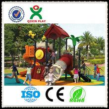 Adorable plastic castle playground/wood-like palyground/forest design playground QX-B0902