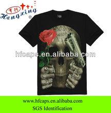 White cotton wholesale printed popular custom 3d printing t shirt