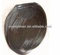 extensión del pelo humano del pelo negro flequillo al por mayor