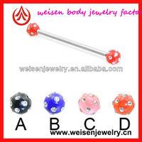 Stainless steel plastic industrial piercing for ear