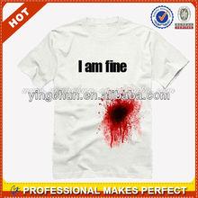 2013 summer fashion cotton men's funny t-shirts free size wholesale China(YCT-B0091)