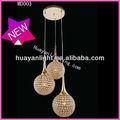 3 luci lampada a sospensione modern+crystal+chandeliers md003