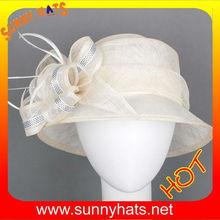 White fashion women dressy Church Hat for party
