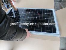 Mono solar panel 50W, small solar module