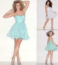 A-line sweetheart mini beautifully crystal embellished chiffon cocktail dress mi008