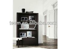Modern italy desige bookshelf, wooden/MDF simple bookshelf, high glossy paint bookshelf with glass doors SM-D29B