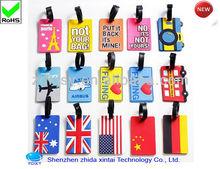 Shenzhen China producer silicone PVC baggage tag